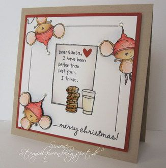 Stacey Yacula Studio Holly Mouse Sample Christmas Cards Winter Cards Dear Santa Беднова ольга дети личный опыт. pinterest