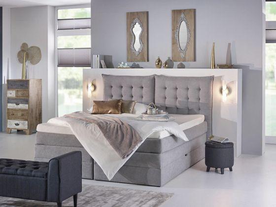 Boxspringbett in Grau u2013 das gemütliche Highlight in Ihrem - möbel höffner schlafzimmer