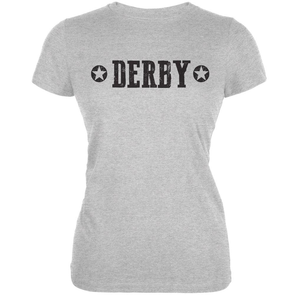 Roller Derby Derby Stars Heather Grey Juniors Soft T-Shirt | OldGlory.com