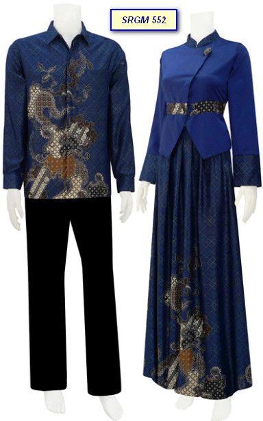 Busana Batik Gamis Blazer Dengan Rok Rample Code Srgm 55 Barang