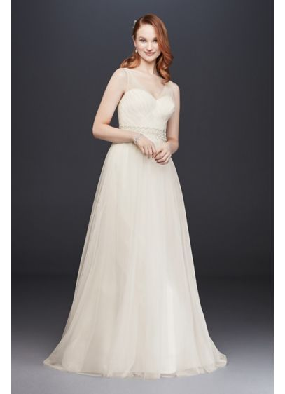5df11a41d4b Long A-Line Formal Wedding Dress - David s Bridal Collection