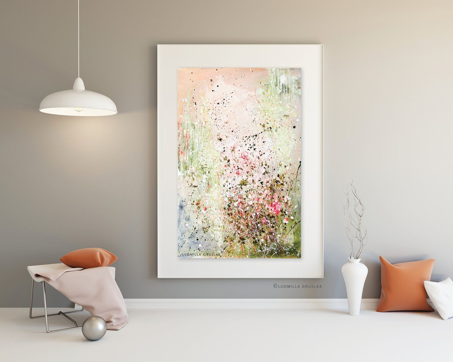 Original Flowers Painting By Ludmilla Gruslak Original Painting On Canvas Contemporary Floral Art Wie Man Blumen Malt Rosen Kunst Und Gemalde Auf Leinwand