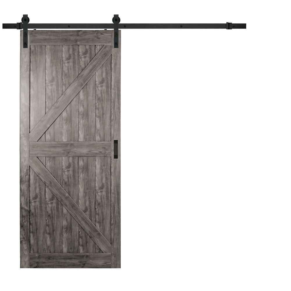 barn door rustic shaker k barn doors sliding rustic on Rustic Gray Barn Door id=13708