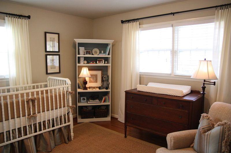 Layout Dresser Under Window Crib To The Left W Rocker In The Middle Corner Instead Of That Bookshe Brown Crib Baby Boy Nursery Colors Baby Nursery Neutral