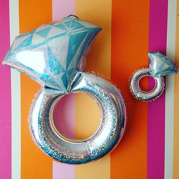 "38"" Engagement Ring Balloon, Jumbo Balloon, Love Balloon, Wedding Ring, Ring Balloon, Wedding Decor, Engagement Party"
