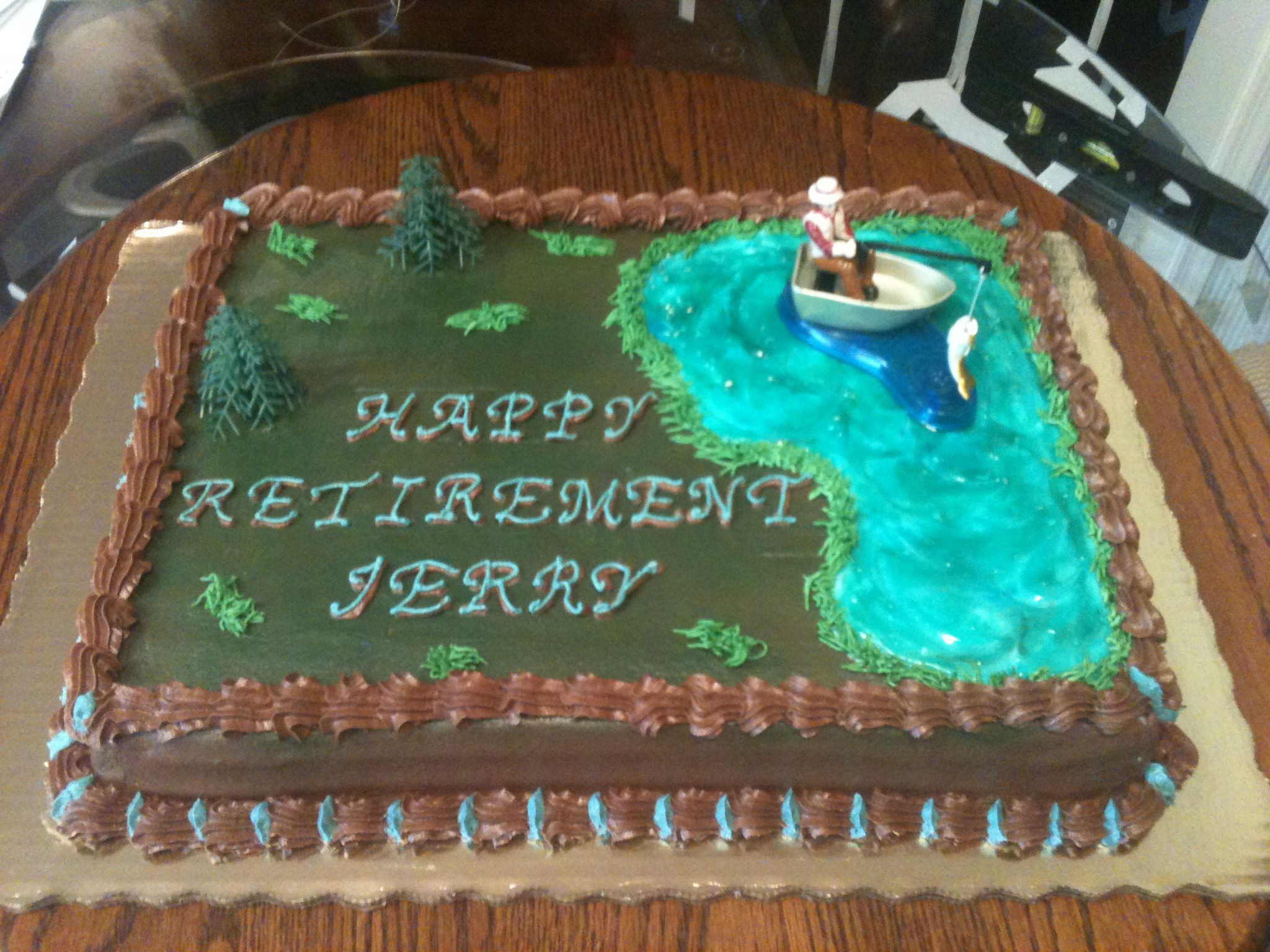Retirement Cake 3-16-12 Made by momma @Susie Ward