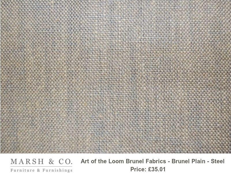 Art Of The Loom Brunel Fabrics Brunel Plain Steel Fabric Loom Design