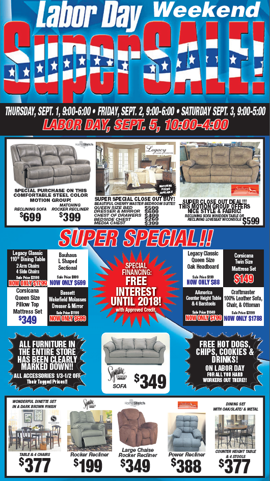Labor Day Weekend Sale 2016 Monthly Furniture Sales Ads