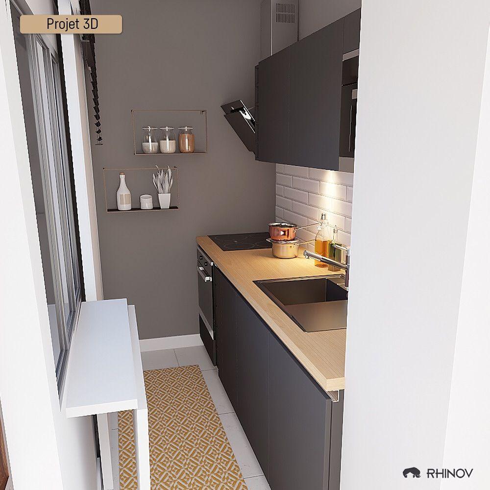 """Rhinov on Instagram: """"Une petite cuisine, mais plus fonctionnelle"""
