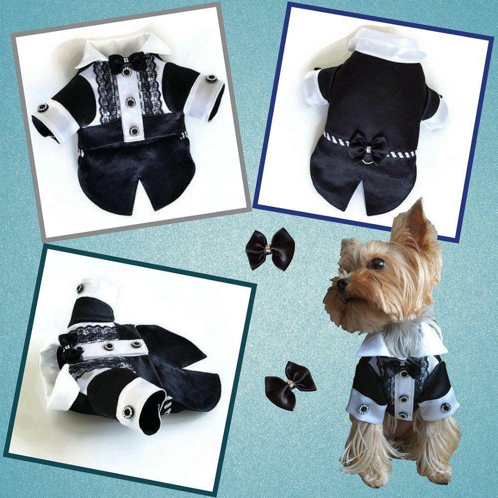 Fancy Dog Vest dog party shirt Blue Teal Dog tuxedo Dog wedding Vest Custom colors available wedding best man dog