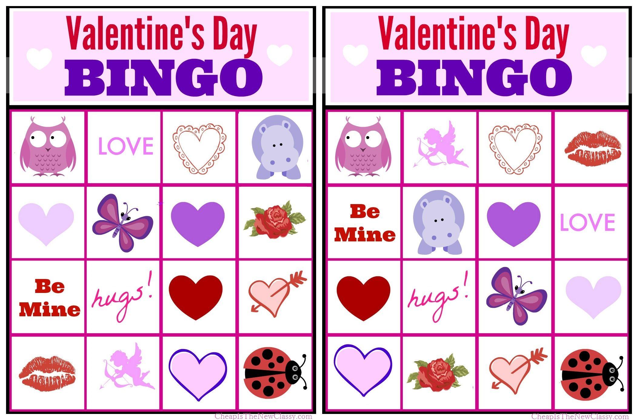 Valentines Day Ideas Valentine Bingo Game Printable For