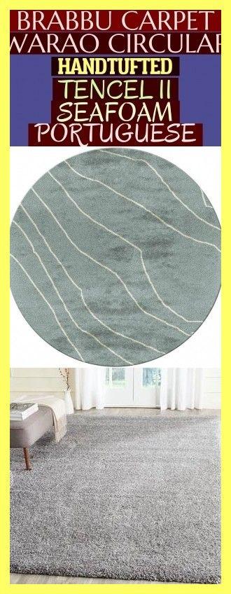 Brabbu Carpet - Warao Circular Hand-Tufted Tencel Ii Seafoam Portuguese