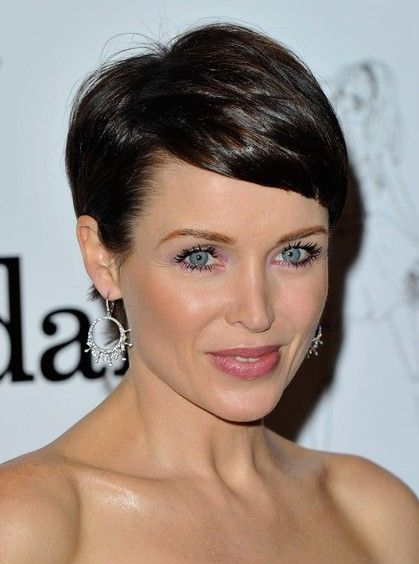 Short Haircuts with Bangs - Side Swept, Choppy & Straight Across ...