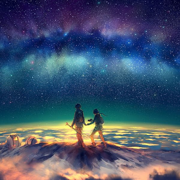Anime Stars Night Sky Summit 4k 3840x2160 50 Wallpaper For