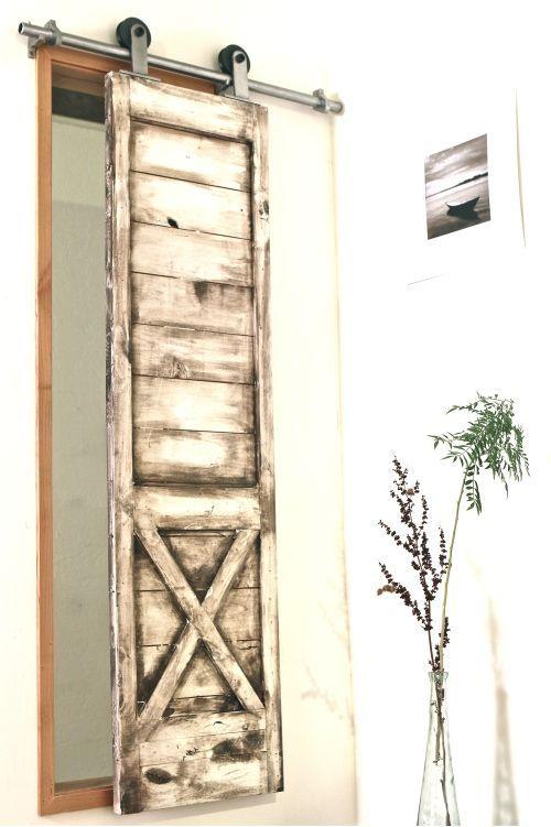 Diy Indoor Shutters | Half X White Wash Window Shutter Shown Here On  Interior
