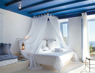 Greek Inspired Decor Hotel Style Bedroom Romantic
