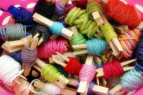 guardar restos de lanas