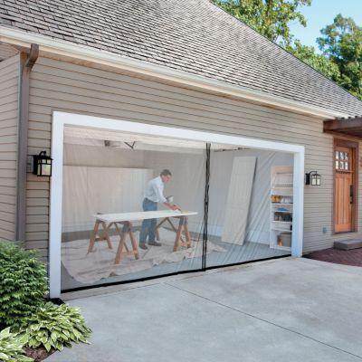 2 Car Garage Screen Kit 16 W X 7 Tall Garage Screen Door Garage Doors Contemporary Garage Doors