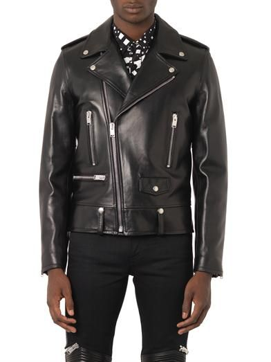 ceb6ccacd03 Yves Saint Laurent Biker Leather Jacket | Winter 2014-2015 Trend ...