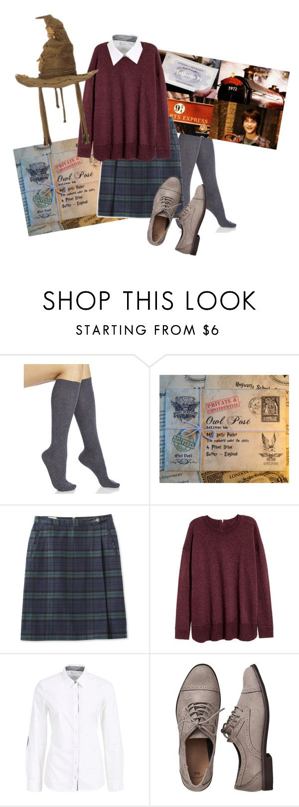"""First week at Hogwarts"" by fashion-film-fun ❤ liked on Polyvore featuring Hue, L.L.Bean, Gap and plus size clothing"