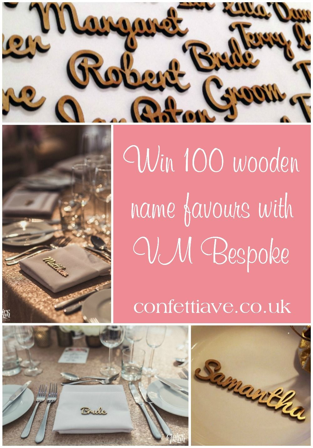 Win 100 Wooden Name Favours with VM Bespoke   Giveaway http ...