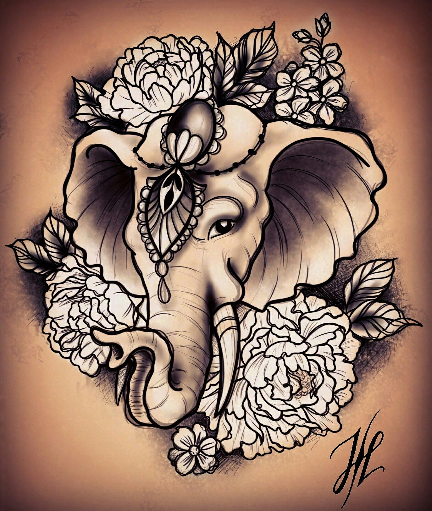 The tattoo I would get for my mom. Elephant tattoos