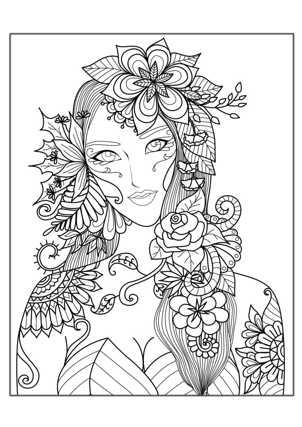 антистресс раскраски для девочек | Люди | Pinterest | Mandala ...