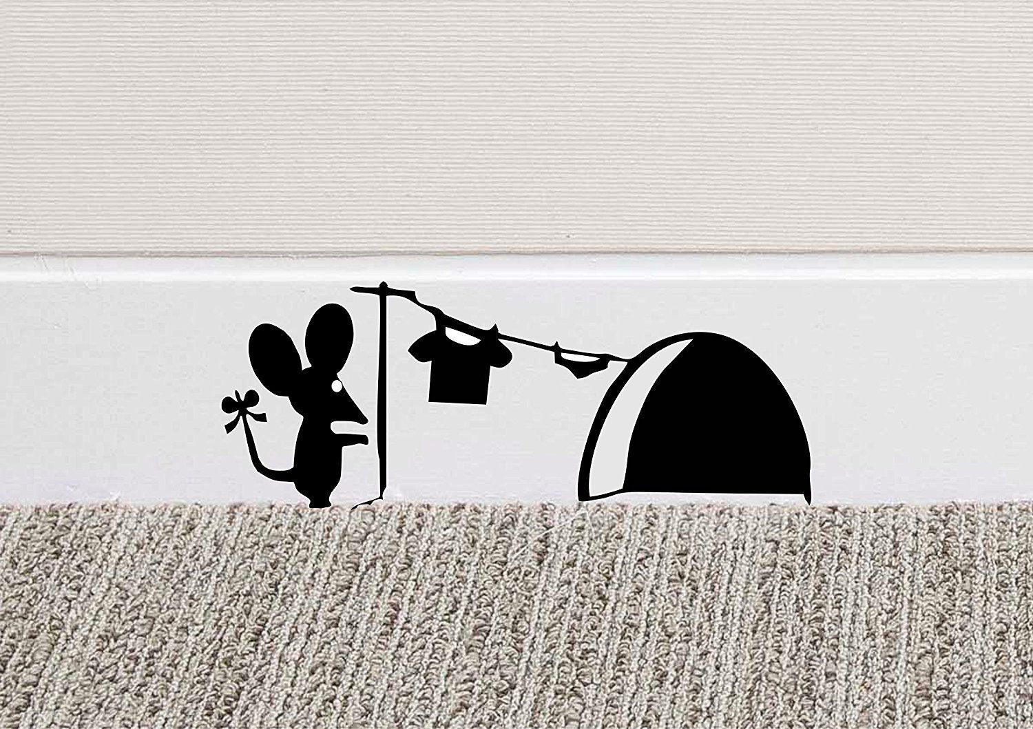 Mouse Hole Mice Wall Sticker DIY Skirting Board Vinyl Sticker Decal Home Decor