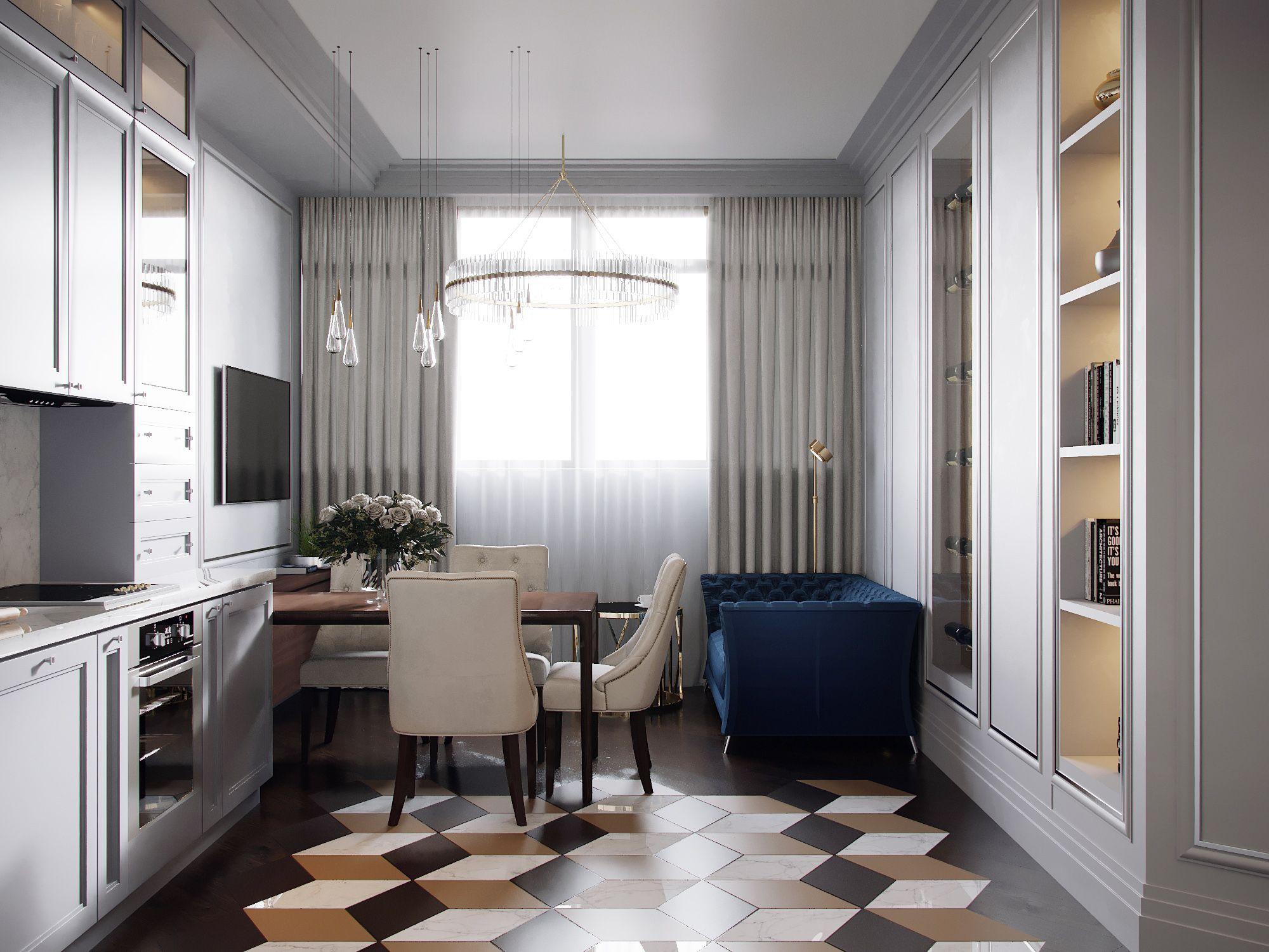 OLYMPUS • Дизайн кухни-гостиной. Кухня гостиная. Интерьер ...