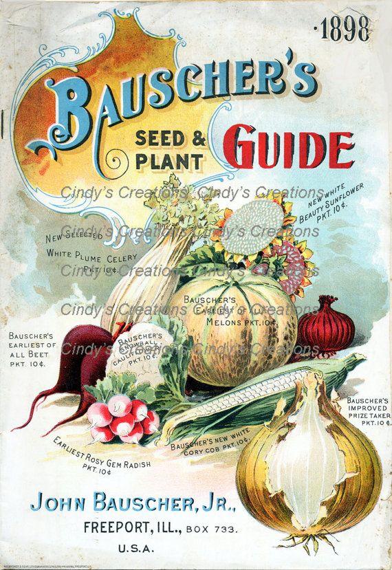 Vintage Plant Guide Collage