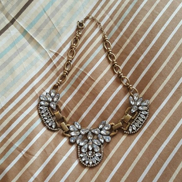 Chunky statement necklace MadFad brand chunky statement necklace. Gold tone with rhinestones. Brand new. Never worn. Jewelry Necklaces