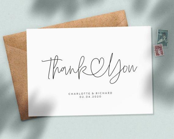 Wedding Thank You Cards, Personalised Wedding Thank You Cards, Wedding Thank You Postcards, Thank Yo #businessthankyoucards