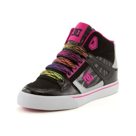c649d9514c2 Shop for Tween DC Spartan Hi Skate Shoe in Black Pink Zebra at Journeys Kidz.  Shop today for the hottest brands in mens shoes and womens shoes at ...