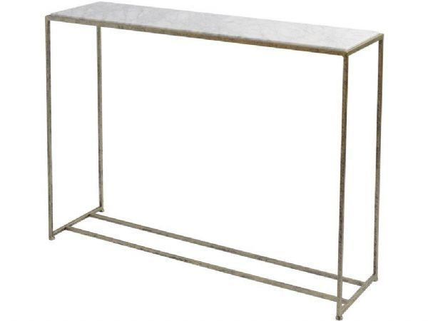 Slimline Console Table grey marble console table | slim rectangular marble table