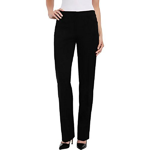 5c7111a14e27 Hilary Radley Womens Straight Leg Flat Front Dress Pant Black 10 *** Find  out more about the great product at the image link.
