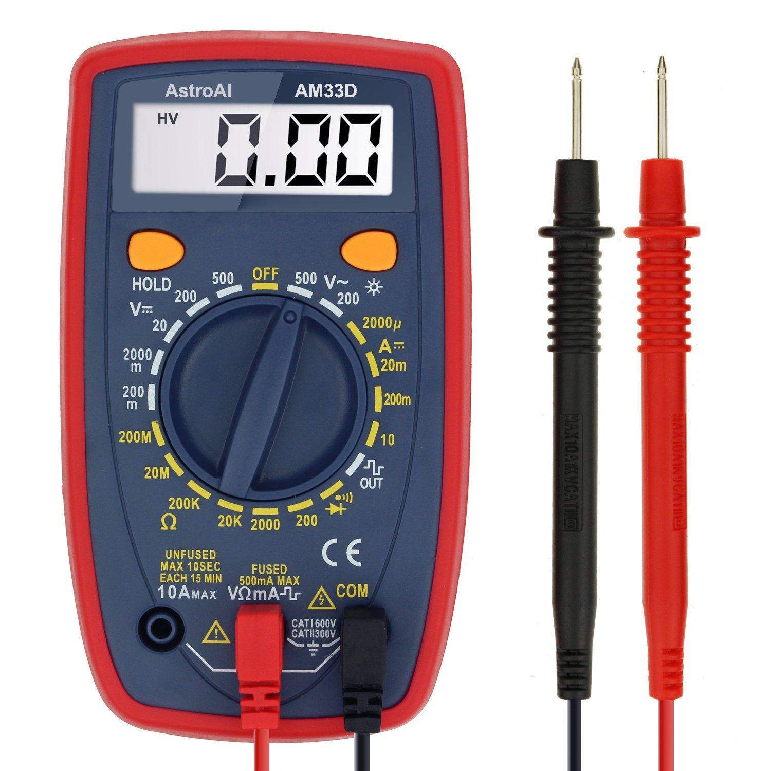 Astroai Digital Multimeter With Ohm Volt Amp And Diode Voltage Ammeter Voltmeter Ac Dc Tester Buzzer Circuit Meter