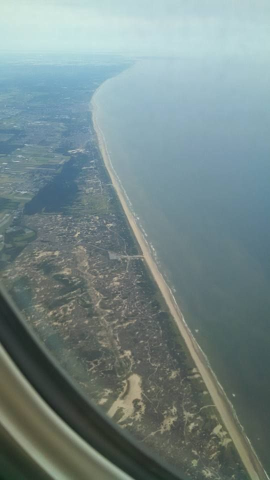 Coastal view from an airplane♪