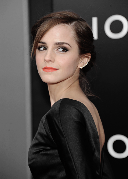 Actress Emma Watson attends the 'Noah' New York premiere at Ziegfeld Theatre on March 26, 2014 in New York City.