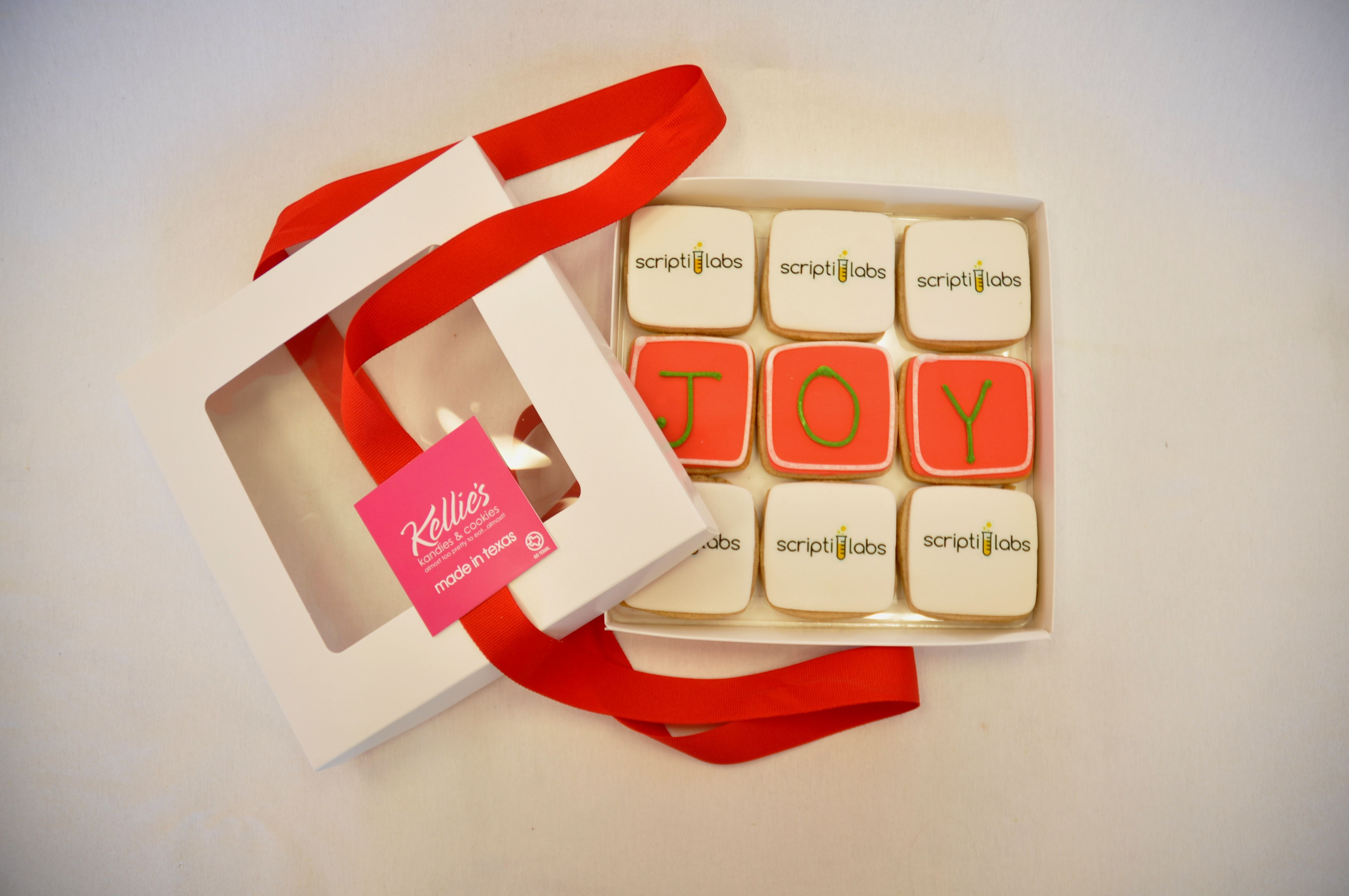 Corporate holiday cookie gift with logos. www ...