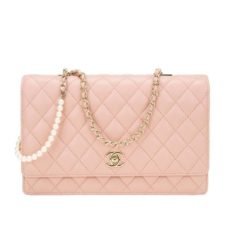 7846c2f33d Chanel Nude Lambskin Fantasy Pearls Large Evening Flap Bag in 2019 ...