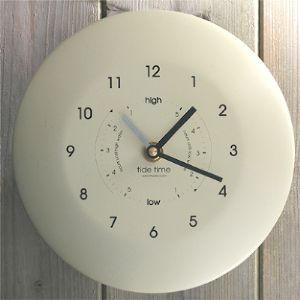 Time and Tide Clock in cream