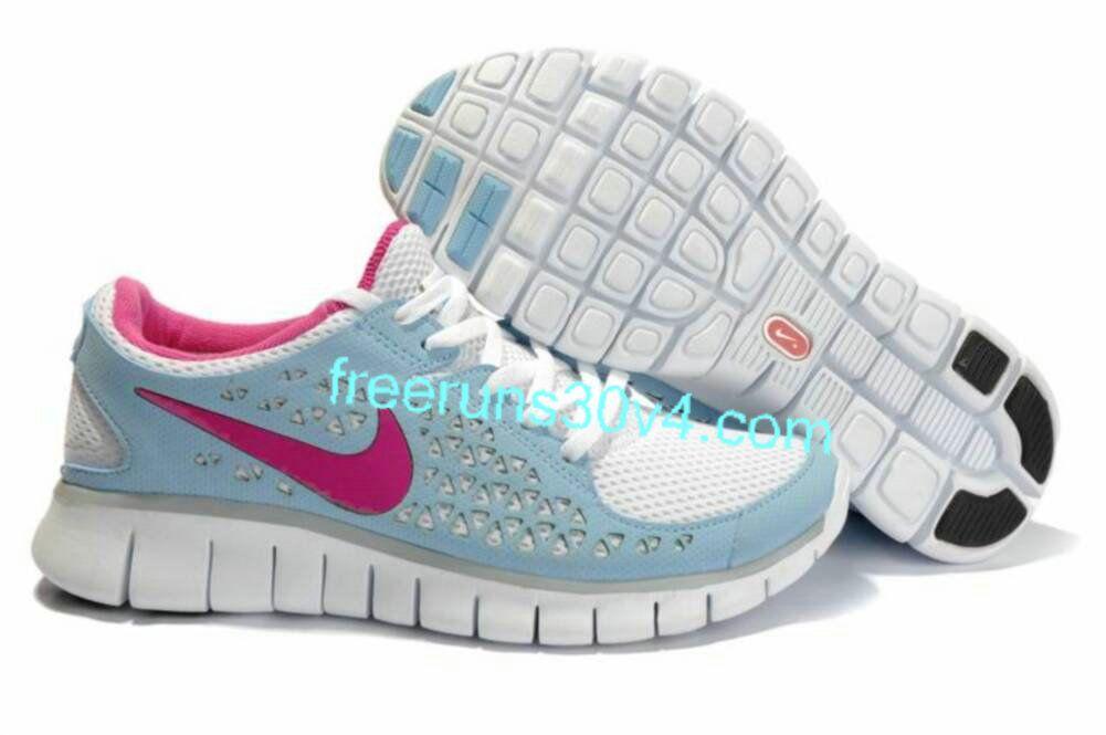 7e3cd9fbd2dce Womens Nike Free Run Blue Pink Shoes 62% off