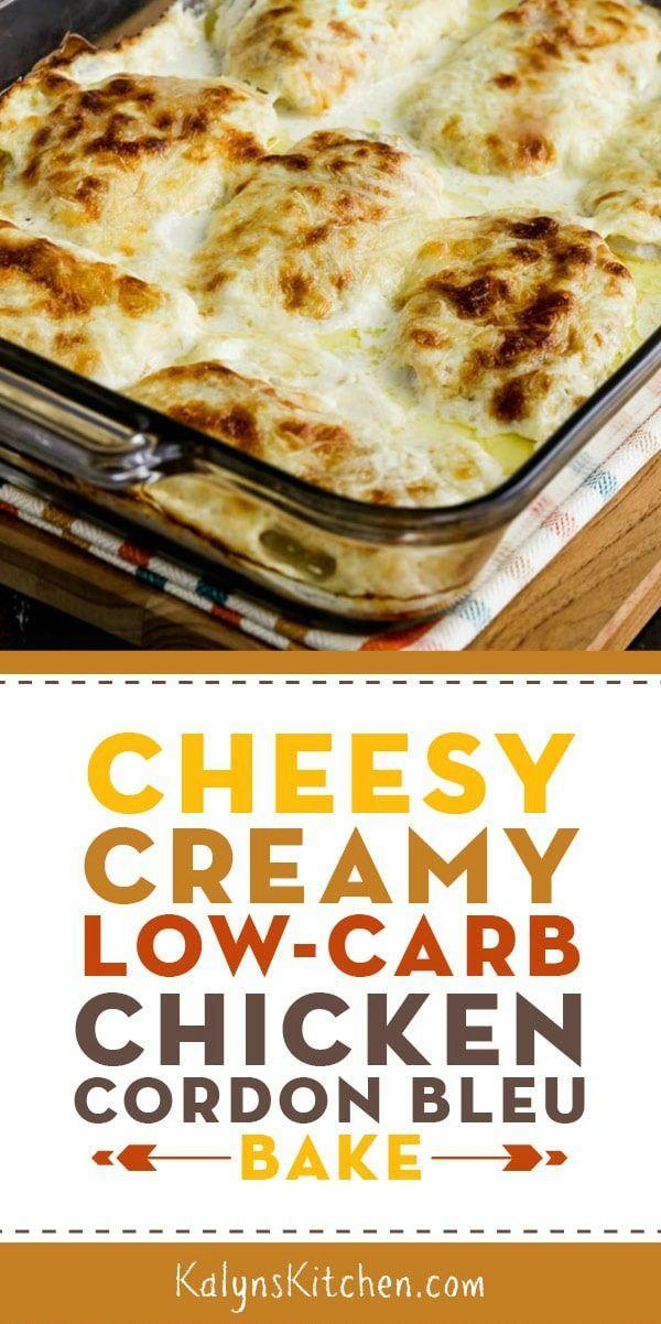 Cheesy Creamy Low Carb Chicken Cordon Bleu Bake Recipe Low