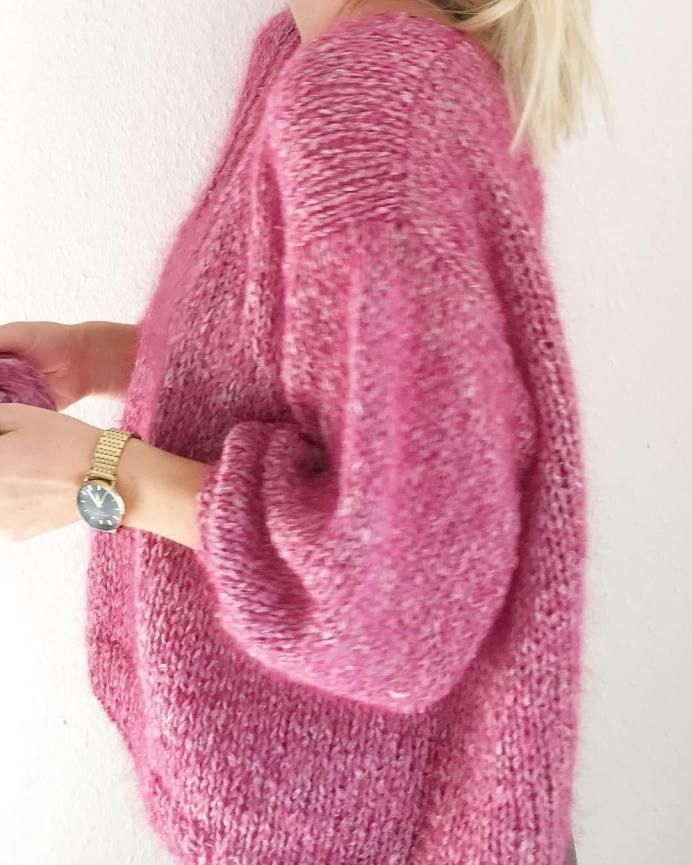 Photo of Knit oversized sweater with balloon sleeves – my instructions