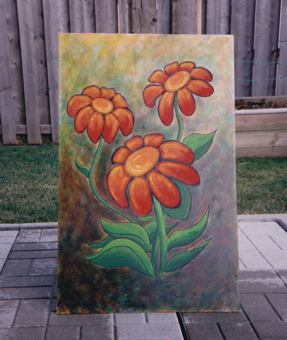 Easy painting ideas for beginners - Easy Canvas Christmas Painting Ideas The Garden Metaphor Acrylic Painting By Yours Truly