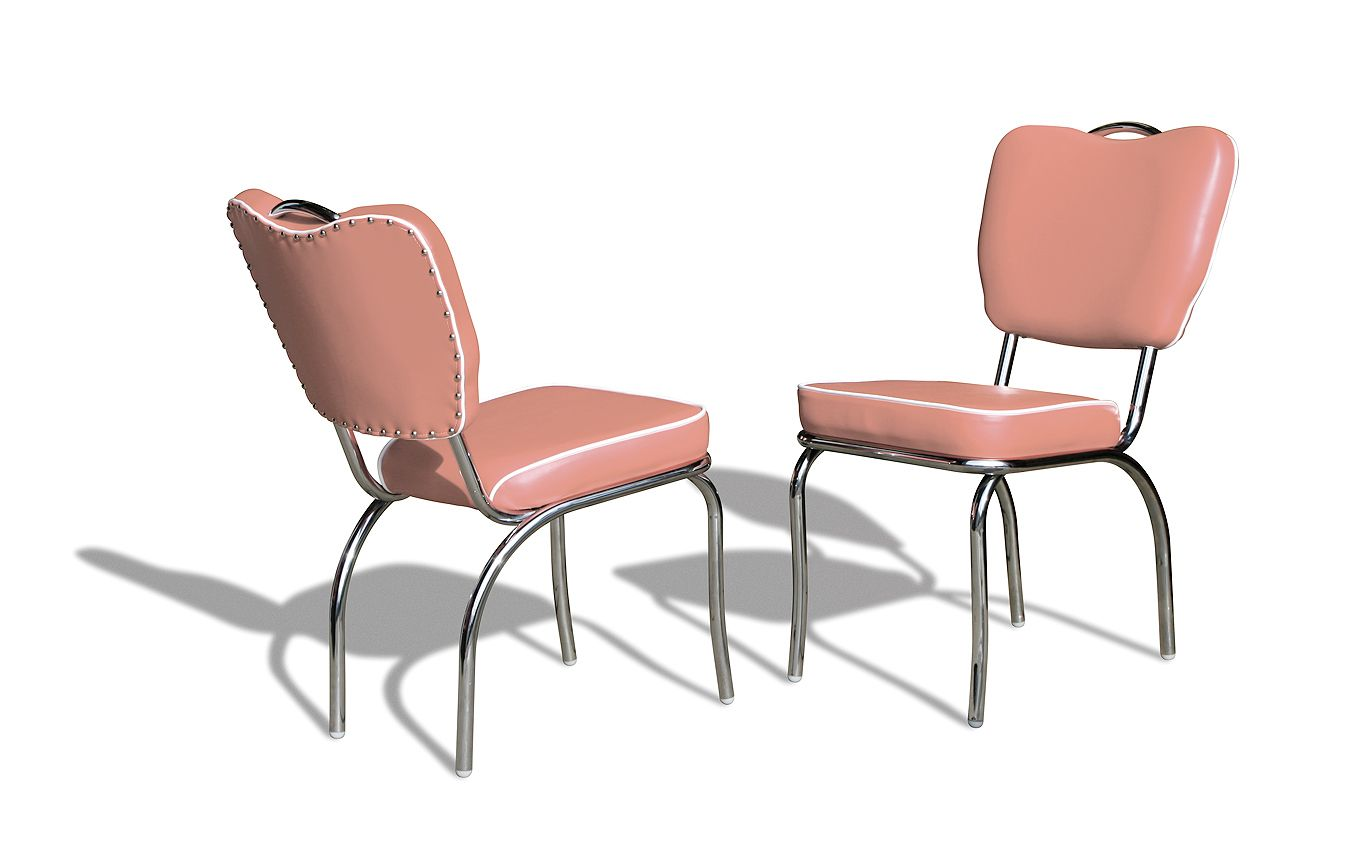 Sedie Rosse ~ Sedie chairs co dusty rose fifties retro