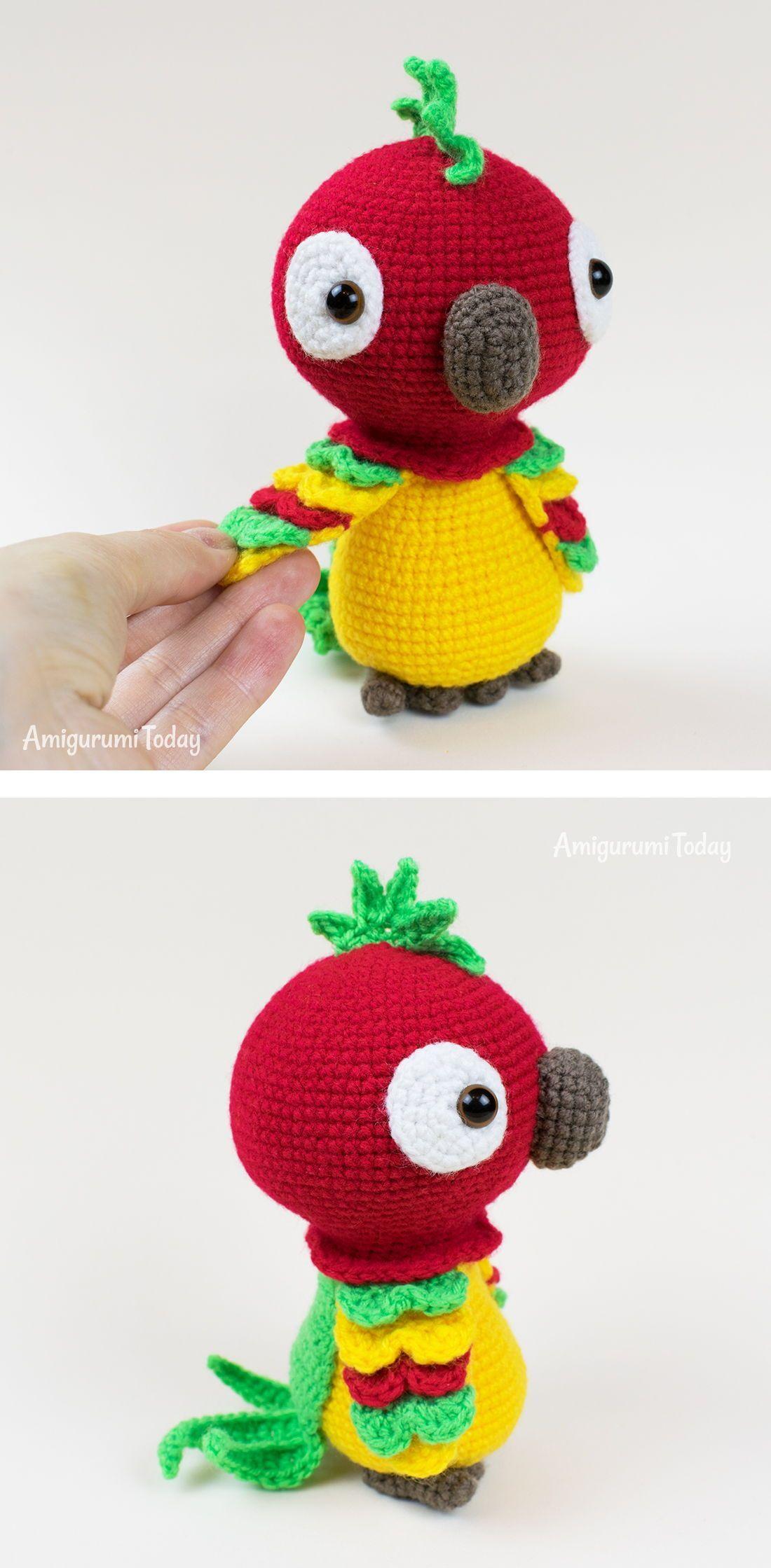 Amigurumi Crochet Parakeet Free Pattern   Crochet bird patterns, Crochet  amigurumi, Crochet parrot   2239x1100