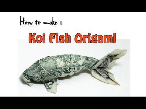 Art origami paper money how to make dollar koi fish for Origami koi fish tutorial