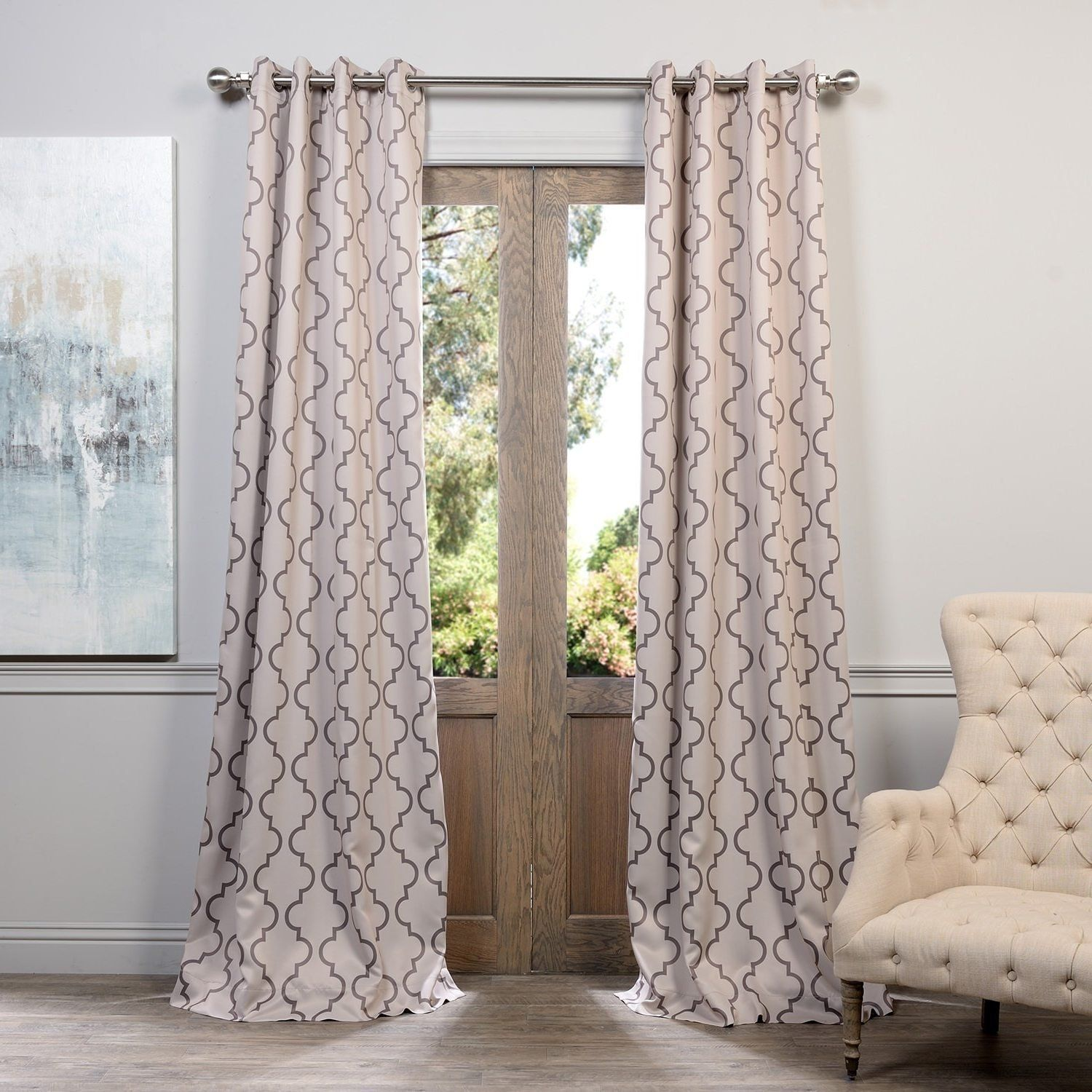designer window living in home sheer for curtains luxury orange from drapes voile geometric grey silver white bedroom panels tulle room