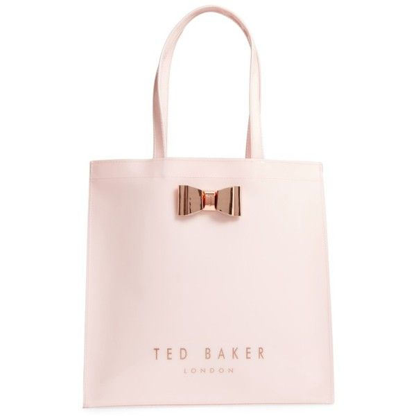 Women S Ted Baker London Mandcon Large Icon Pvc Tote 1 955 Thb Liked On Polyvore Featuring Bags Handbags Pale Pink Totes